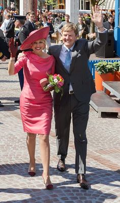 Dutch King Willem-Alexander and Queen Maxima participate in King's Day on 27.04.2015 in Dordrecht, Netherlands.