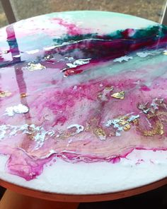 11 Creative Ideas for Your Acrylic Pouring Furniture Projects + Tutorial - Love Acrylic Painting Acrylic Pouring Art, Acrylic Art, Resin Furniture, Furniture Redo, Furniture Projects, Epoxy Resin Art, Resin Artwork, Diy Resin Crafts, Pour Painting