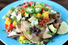 Healthy Grilled Nachos...Chef G and Racheles Healthy Eating