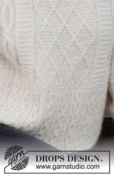 Drops Design, Knitting Charts, Knitting Patterns Free, Free Knitting, Crochet Cardigan Pattern, Knit Crochet, Magazine Drops, Ice Castles, Labor