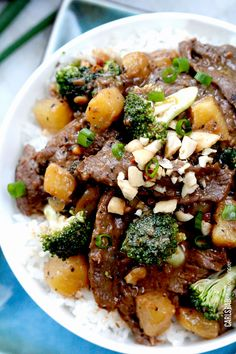 Thai Peanut Beef and broccoli stir fry