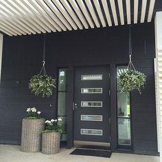 Ikkunat pesty ja kesäkukkia istutettu  #sisäänkäynti #kuisti #entrance #wood #flowers #white #grey Koti, Entrance, Garden, Outdoor Decor, Instagram Posts, Home Decor, Entryway, Garten, Decoration Home