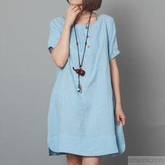 Couleur Lin White Linen Bubble Dress & Necklace | zulily | clothes ...