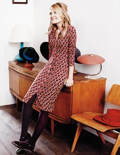 A retro-fabulous frock if one we ever did see. #Boden