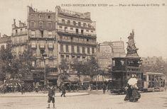 La place de Clichy vers 1900