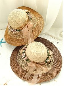 Straw hat  women hat  Big hat  Handmade hat  Sun hat di 12332145, $70.00