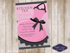 Apron Pink Printable Kitchen Tea Invitation by TweetPartyBoutique, $15.00