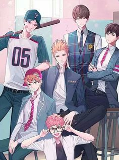 Otome game Loved by King Bs - Day 7 Cool Anime Guys, Handsome Anime Guys, Cute Anime Boy, Anime Love, Anime Couples Manga, Manga Anime, Anime Art, Fanarts Anime, Anime Characters