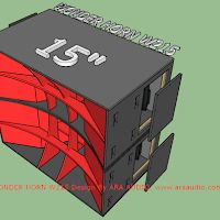 Skema Box WONDER HORN 15 inch W215 Subwoofer Box Design, Speaker Box Design, Sub Box, Audio, Planer, Horns, Concept, Speakers, Rave