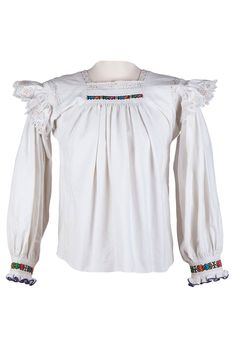 A delicate, entirely handmade, traditional romanian blouse can easily be worn nowadays as well. Romania, Off Shoulder Blouse, Delicate, Traditional, Embroidery, Unique, Handmade, Collection, Vintage
