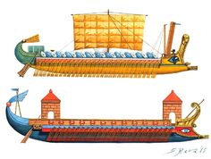 Roman Triremes and Quadriremes, 2nd Century BC