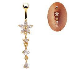 Fr636 moda 18 K banhado a ouro jóias clara de cristal oscila barriga Piercing no umbigo anel para mulheres presente em Jóias para corpo de Jóias no AliExpress.com | Alibaba Group