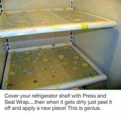 Press and seal wrap to keep your fridge clean.