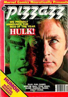 With greatest Hulk Bill Bixby Cover. PIZZAZZ From Original HULK TV series. October sturdy hand cut cardboard in a manila envelope. print and series. 1970s Tv Shows, Old Tv Shows, The Original Hulk, Incredible Hulk Tv, Hulk Movie, Sci Fi Tv Series, The Originals Tv, Hulk Avengers, Magazines For Kids