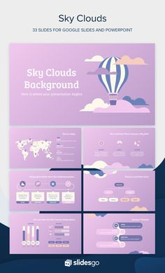 Enjoy the sunset and the beautiful clouds with this lilac Google Slides theme and PowerPoint template for your presentation! Powerpoint Background Templates, Powerpoint Design Templates, Ppt Template, Templates Free, Lilac Sky, Slide Design, Sky And Clouds, Presentation Design, Social Media