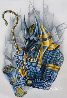 Anubis Egyptian God Tattoo Design in Real Photo, Pictures, Images and Sketches – Tattoo Collections Egyptian Mythology, Egyptian Symbols, Ancient Egyptian Art, Anubis Tattoo, Anubis Drawing, Anubis And Horus, Jacky, God Tattoos, Tattoo Kits