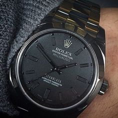 "TheWorld'sMostExpensiveWatches on Instagram: ""Rolex. Milgauss titan black"""