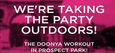 Outdoor workout partying with Doonya!