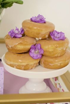 The donuts at this Mother's Day party look delicious!!! See more party ideas and share yours at CatchMyParty.com