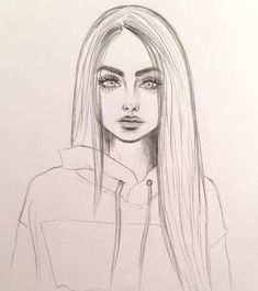 Art & Drawings Drawing, # pencil drawing fixing # pencil drawing photoshop # pencils - Cute Easy Drawings, Cool Art Drawings, Pencil Art Drawings, Beautiful Drawings, Drawing With Pencil, Pretty Drawings Of Girls, Drawings Of Hair, Skull Drawings, Beautiful Girl Drawing