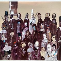Genieve Figgis「Clowns with sticks」