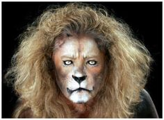 Aslan make up Lion Makeup, Animal Makeup, Fx Makeup, Makeup Ideas, Tiger Costume, King Costume, Halloween Cat, Halloween Makeup, Halloween 2019