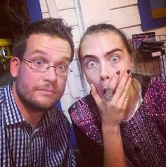 John green and Cara. I can't wait for Paper towns to come out