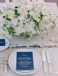 #menus Photography by josevillaphoto.com Styling and Design by joydevivre.net Florals by kellykaufmandesign.com/  Read more - http://www.stylemepretty.com/2013/07/18/nautical-wedding-inspiration-from-jose-villa-photography/