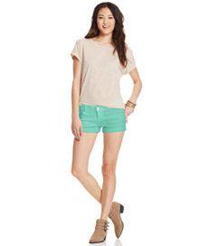 Celebrity Pink Jeans Juniors' Cuffed Denim Shorts