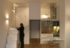 A delightful use of a small space in a compact apartment in Madrid (Beriot Bernardini Archquitectos) - Ginn
