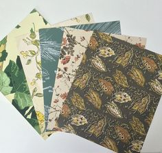 Vintage Wallpaper collage scrap pack Set of by PinkElephantsRetro 1950s Wallpaper, Of Wallpaper, Multimedia Arts, Wallpaper Patterns, Subtle Textures, Covered Boxes, Vintage Walls, Mixed Media Art, Art Projects