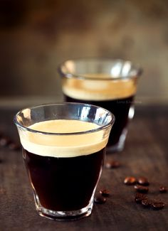 espresso + cream shots #coffee