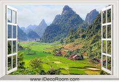 3D Vietnam Landscape window wall sticker art decal IDCCH-LS-003181