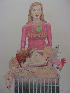Jo Frederiks - Blind to the Hypocrisy Vegan Memes, Vegan Quotes, Vegan Funny, Why Vegan, Vegan Vegetarian, Vegetarian Facts, Vegetarian Quotes, Stop Animal Cruelty, Vegan Animals