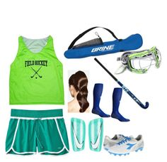 """Basic field hockey outfit"" by madster333 ❤ liked on Polyvore featuring art"