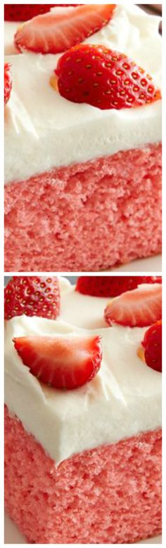Strawberries and Cream Cake ~ Be prepared for lots of compliments!