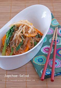 Japchae Salad- YUMMMM! I love korean food, this blog has sooo many other amazing looking recipes, too!