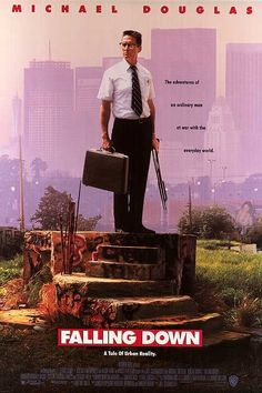 Falling Down is a 1993 neo-noir psychological thriller film directed by Joel Schumacher and written by Ebbe Roe Smith. The film stars Michael Douglas in the lead role of William Foster, a divorcé and unemployed former defense engineer. The film centers on Foster as he goes on a violent rampage across the city of Los Angeles, trying to reach the house of his estranged ex-wife in time for his daughter's birthday party.
