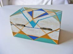 Shop Etsy, the place to express your creativity through the buying and selling of handmade and vintage goods. Painted Wooden Boxes, Wood Boxes, Sorority Crafts, Diy Origami, Easy Diy Crafts, Botanical Illustration, Painting Techniques, Painting On Wood, Photo Art