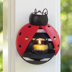 Retiring soon: Ladybug Hanging Votive Holder. Vickie Del Grosso Independent Consultant                               www.partylite.biz/vickiedelgrosso