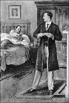 Holmes and Watson by Walter Paget-The Adventure of the Dying Detective