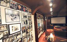 Michael Winner's cinema room