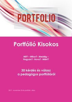 Portfólió Kisokos_2017-1 Thing 1, Study Tips, Portfolio, Teaching English, Special Education, Biology, Kindergarten, Teacher, Personal Care