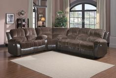 Cranley Collection 4Pcs Power Recliner Sofa Set 9700FCP-3PW $1784  The reclining Cranley Collection utilizes a release mechanism that with a gentle pull sends you straight into your ultimate comfort zone. Offered in three coverings – black bonded leather match, brown bonded leather match or chocolate textured plush microfiber with dark brown bi-cast vinyl. Corner wedge is available to transform this versatile seating collection into a luxurious sectional. The collection is also available in…