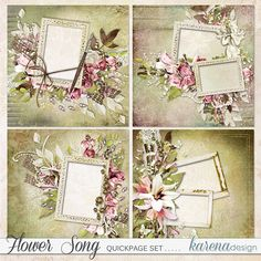 Digital Scrapbooking, Decorative Boxes, Kit, Shop, Flowers, Collection, Design, Hands