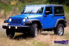 blue 2012 Jeep Wrangler Rubicon - love this color!