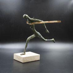 Greek Athlete Runner Statue, Bronze Metal Art Sculpture, Ancient Greece, Greek Art, Museum Quality Art, Greek Sculpture, Unique Home Decor