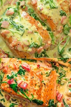 Salmon Dishes, Seafood Dishes, Seafood Recipes, Cooking Recipes, Crockpot Recipes, Keto Recipes, Salmon Recipe Pan, Salmon Sauce, Healthy Salmon Recipes
