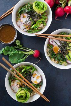 Brown Rice Mujadara Bowl with a Fried Egg | Recipe | Brown Rice ...