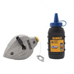 86d4a685 This DEWALT Cast Aluminum Reel Red Chalk is 100 ft. It has a die cast  aluminum body for durability and to protect its twisted cotton line of reel.